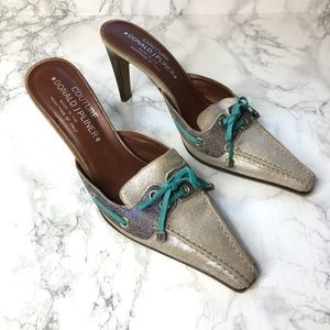 Donald J. Pliner Couture Lake Leather Loafer Mules